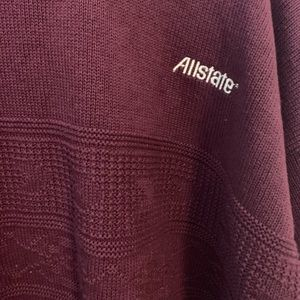 Vintage Allstate burgundy knit sweater